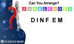 arrange the jumble word puzzle