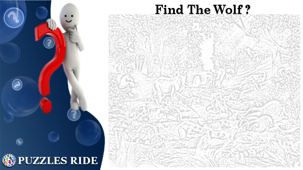 Find The Wolf Inside The Picture