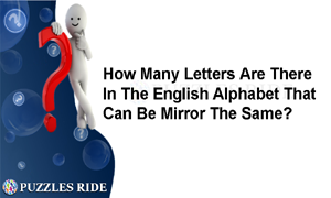 Mirror Alphabets In English Answer