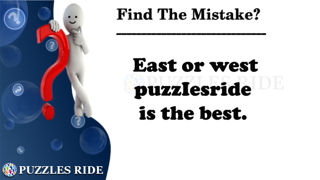 Silly Mistake Puzzle in English