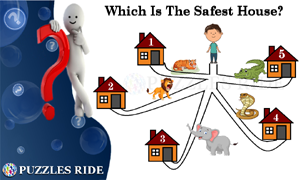 Which Is The Safest House Logical Puzzle for Kids