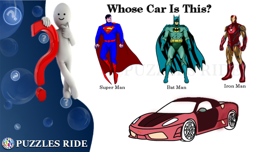 Whose Car Is This? Super Man? Bat Man? Iron Man?